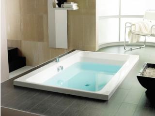 luxury oval shape inset bathtubs