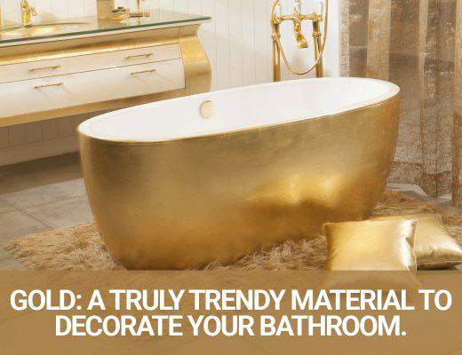 gold bathromms