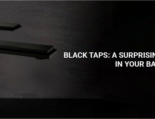 black faucets