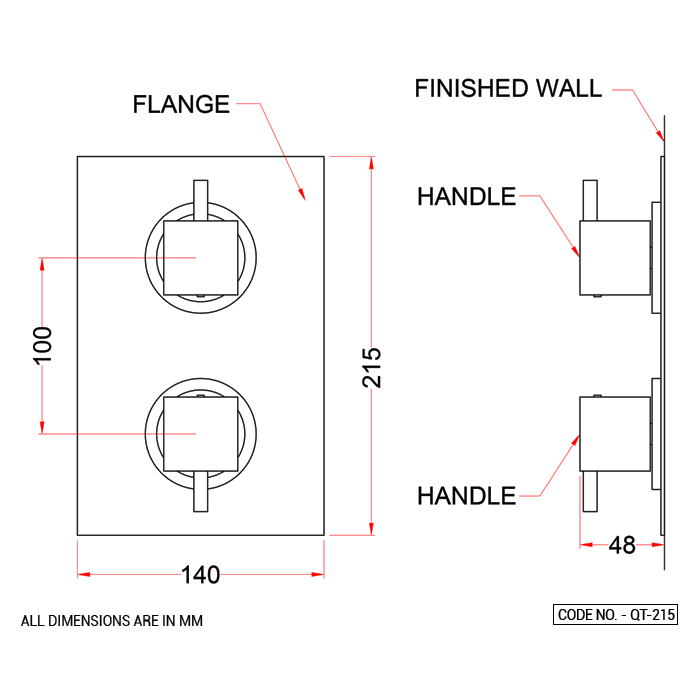 Two Way Outlet System Thermostatic