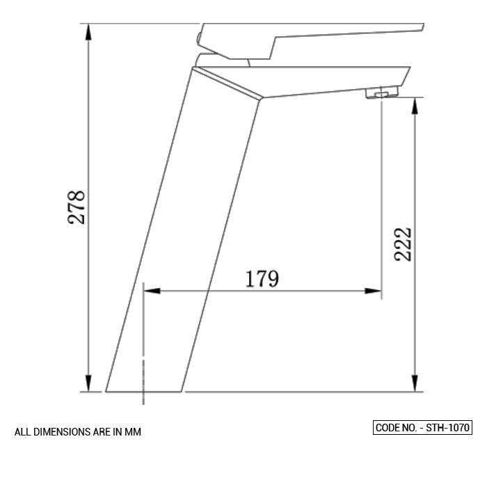 Single Lever Basin Mixer Long Body Chrome Finish