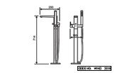 Free Standing Bathtub Filler with Hand Shower