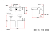 Single Lever Wall Mounted Wall Mixer