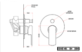 Single Lever Concealed Shower Mixer with Auto Diverter
