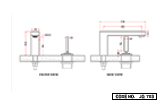 Single Lever Two Hole Basin Mixer Short Body with Joystick Lever