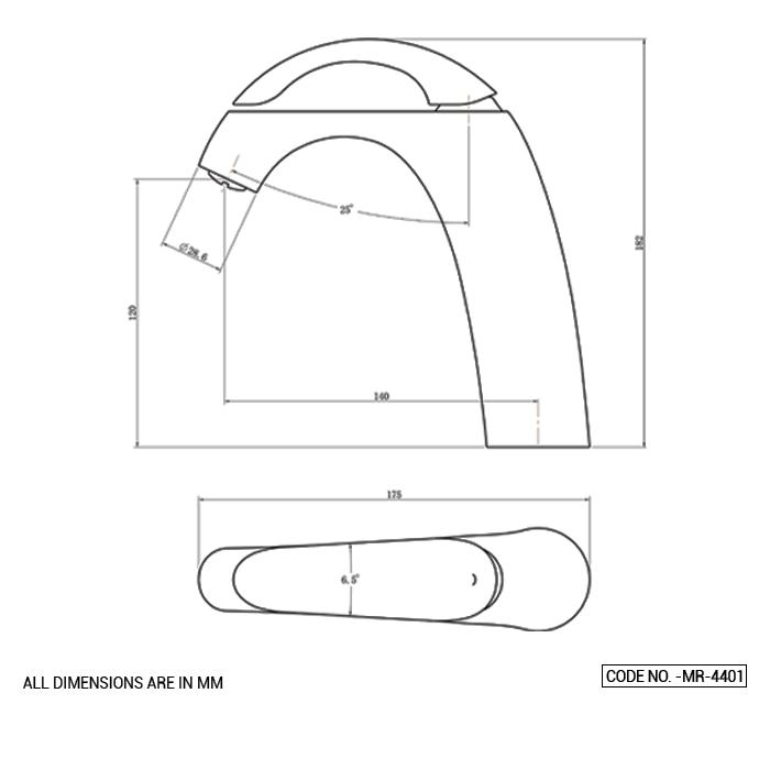 Single Lever Basin Mixer Short Body
