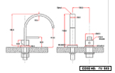 Single Lever Two Hole Basin Mixer Deck Mounted Short Body