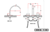 Three Hole Basin Mixer Deck Mounted Short Body Gold PVD Finish