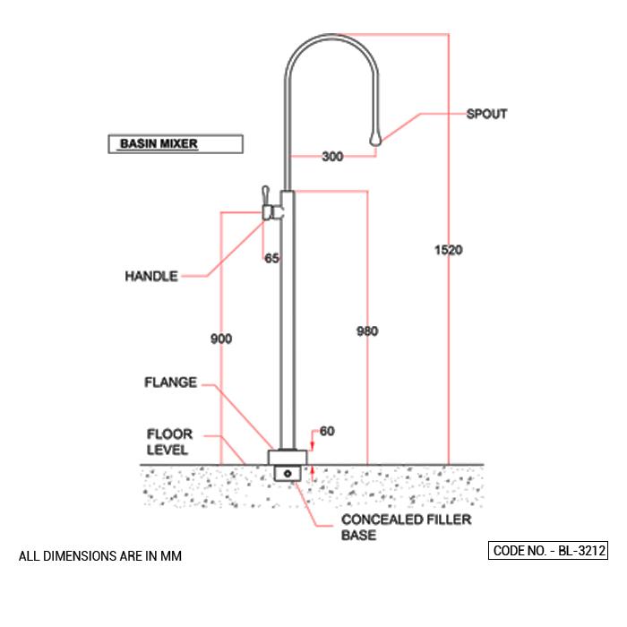 Floor Mounted Basin Mixer