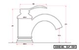 Single Lever Basin Mixer Short Body Chrome Finish