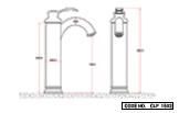 Single Lever Basin Mixer Long Body Gold PVD Finish