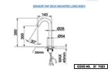 Sensor Tap Deck Mounted Long Body Aquadorn